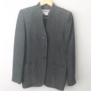 CARLISLE Mandarin Collar Blazer Jacket